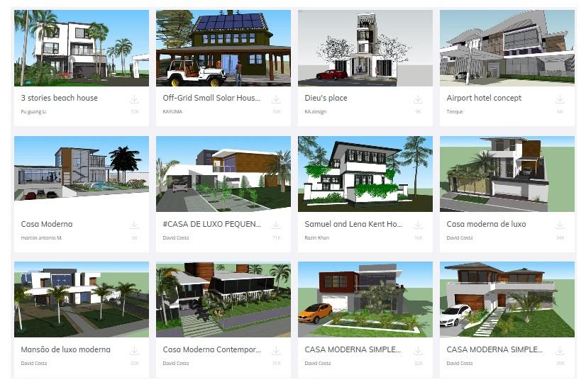 sketchup casas